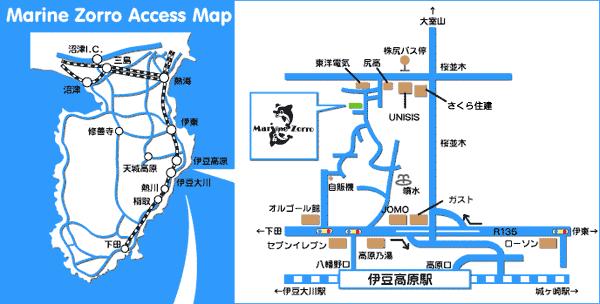 マリンゾロ アクセスマップ